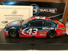 2018 Action Bubba Wallace #43 Petty's Garage 1/24 Color Chrome Autographed