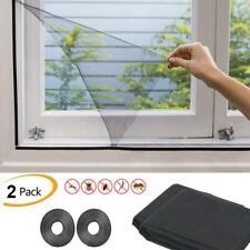 2 x LARGE WINDOW SCREEN MESH NET FLY INSECT BUG MOSQUITO MOTH DOOR NETTING BLACK
