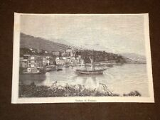 Nel Golfo della Spezia o di La Spezia nel 1886 Veduta di Fezzano