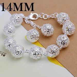 beautiful Fashion 925silver cute pretty women bracelet wedding jewelry  ball H88