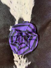 Purple Zebra English Helmet Cover