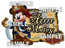 Disney Pirate Mickey Mouse Arrrr Matey Scrapbook Embellishment Piece