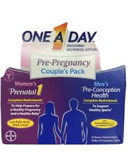 One A Day Pre Pregnancy Couples Pack Multivitamin Womens Mens Exp 1/2021
