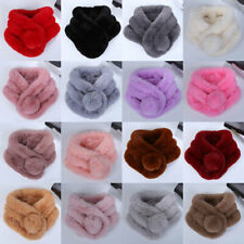 Women Winter Faux Fur Warm Scarf Fashion Soft Plush Thicken Snood Scarves Shawl