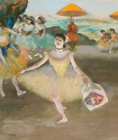 Dancer With Bouquet Edgar Degas Wall Art Print on CANVAS Giclee Poster Small
