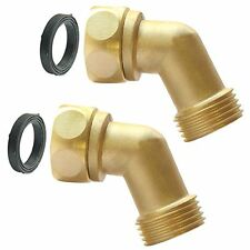 Plg Garden Hose Elbow Connector,45 Degree Extender,Solid Brass Adapter
