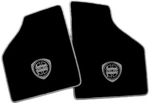 Black Velours Carpet Set for Lancia Beta Montecarlo  1976-1982 with grey Logo