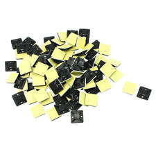 100 Pcs Self Adhesive Cable Tie Mount Base Holder 20 x 20 x 6mm