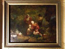 Tableau George Morland huile sur panneau bois peinture