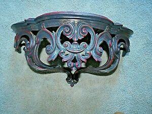 Vintage Baroque Wall Shelf Made in Italy Gilded Dark Hollywood Regency Plastic