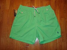 Nwt Polo Ralph Lauren Men'S Nylon Pony Swim Trunks Shorts Lime Xl
