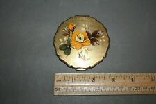 Vintage Mid Century Gold Tone Rose Design Stratton Compact With Mirror Empty