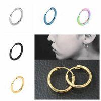 punk tube des bijoux oreille étalon l'acier inoxydable boucles ronde cercle