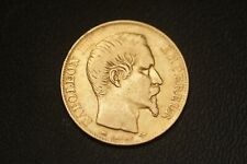 20 Francs Or Napoleon III Tete nue 1855 D ( Lyon )