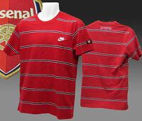 Vintage Nike Club de Fútbol Arsenal Estampada Camiseta de Algodón Rojo Pequeño