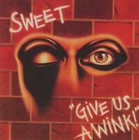 SWEET - GIVE US A WINK (+3 Bonus Tracks) RARE СD Jewel Case+FREE GIFT Glam Rock