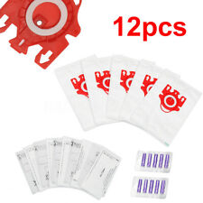 12pcs Vacuum Cleaner Bags For Miele Compact C1 & C2 Series FJM Type &