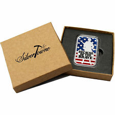 Because of the Brave - American Soldier 1oz .999 Silver Bar Enameled