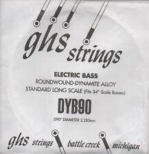 Corde basse 1 corde GHS-DYB90 - à l'Unité - ROUNDWOUND - DYNAMITE ALLOY