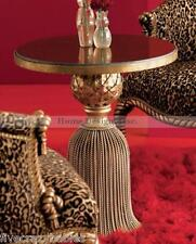 Gorgeous WROUGHT IRON Tassel Table Ornate Victorian Neiman Marcus Gold Granite