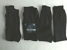 Men's George Dress Socks Nylon Rib Crew 4 Pair Navy Blue Shoe 6-12 New Opened