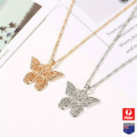 New Butterfly Hollow Pendant Necklace Chokers Chain Statement Retro Women Gift