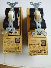 ( 2 ) HUBBELL A.C. PresSwitch 1257-I  15 Amp