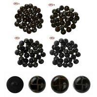 30 Plastic Shank Round Buttons for Tweed Overcoat Jacket Sewing Button DIY Craft