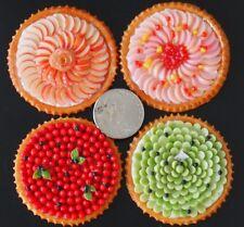 1:6 Dollhouse Miniatures Food 4 Fruit Pies Tart Pastry Bakery Sweet Deco Barbie