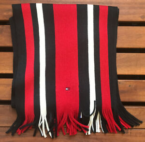 Tommy Hilfiger Lester Striped Scarf - Red - E387884156-091