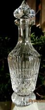 Pristine Exquisite & Brilliant Waterford MAEVE Footed Decanter w/ Cut Stopper 13