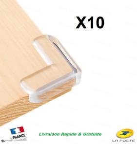 10 X Protège Coins Meuble Table Angle Protection Silicone Bébé Enfant Sécurité