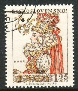TSCHECHOSLOWAKEI 1957, Tag der Briefmarke Trachten 1.25 K. Frau aus Haná, Mähren