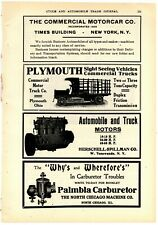 1908 Plymouth Commercial Trucks Ad: Commercial Motor Vehicle Co. Plymouth, OhiO