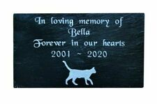 Personalised Engraved Pet Memorial Slate Headstone Grave Marker Plaque Pet Cat