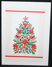 Cardinals in Holly Tree Christmas Greeting Card Painted art by J.B.