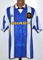 MANCHESTER UNITED 1994/1996 THIRD FOOTBALL SHIRT JERSEY UMBRO SIZE XL ADULT
