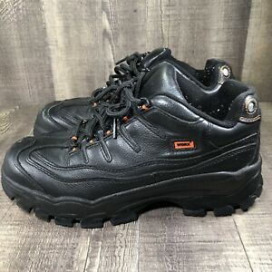 Red Wing Worx 5500-1 Men's Black No Slip Safety Steel Toe Shoes Size 9.5W Wide
