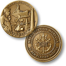 U.S. Navy / Naval Station Norfolk - USN Bronze Challenge Coin