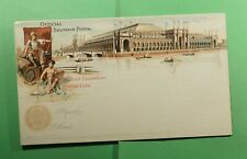 DR WHO 1893 WORLDS COLUMBIAN EXPO UNUSED PICTORIAL POSTAL CARD  f52364