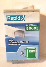 Tacker  Klammern rapid 11-6 mm G  5000 St  für Hammertacker in Plastic-BOX