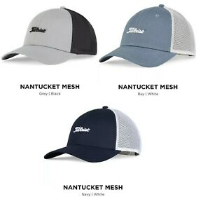 NEW TITLEIST NANTUCKET MESH TREND SNAPBACK GOLF CAP HAT, PICK A COLOR, $32