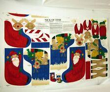 Nick of Time 3D Christmas Stocking Cotton Fabric Panel by Susan Jill Hall 36x56