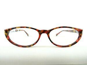 Brillenfassung aus Kunststoff für Frauen mit Cateyeform in Erdfarben neu Gr. M