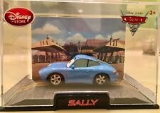 Cars 2 Character Sally Diecast Toy Car on display case
