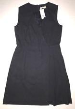 Tory Burch 8 Navy Blue Wear to Work Career V Neck Jumper Dress 8