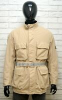 BELSTAFF XL Uomo Cappotto con Cintura Giacca Impermeabile Giubbino Jacket Man