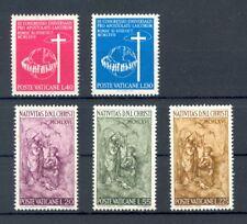 Vatican 1966 Christmas and 1967 Apostolic Laity Congress, full sets, MNH