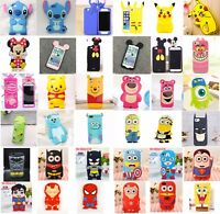 For iPhone 5 5C SE 6 6S 7 8 3D Hot Cute Cartoon Soft Silicone Phone Case Cover