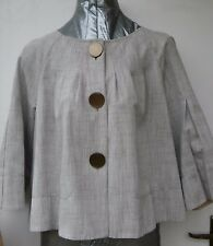 Jesire 50's cotton blend collarless Jacket Size 12